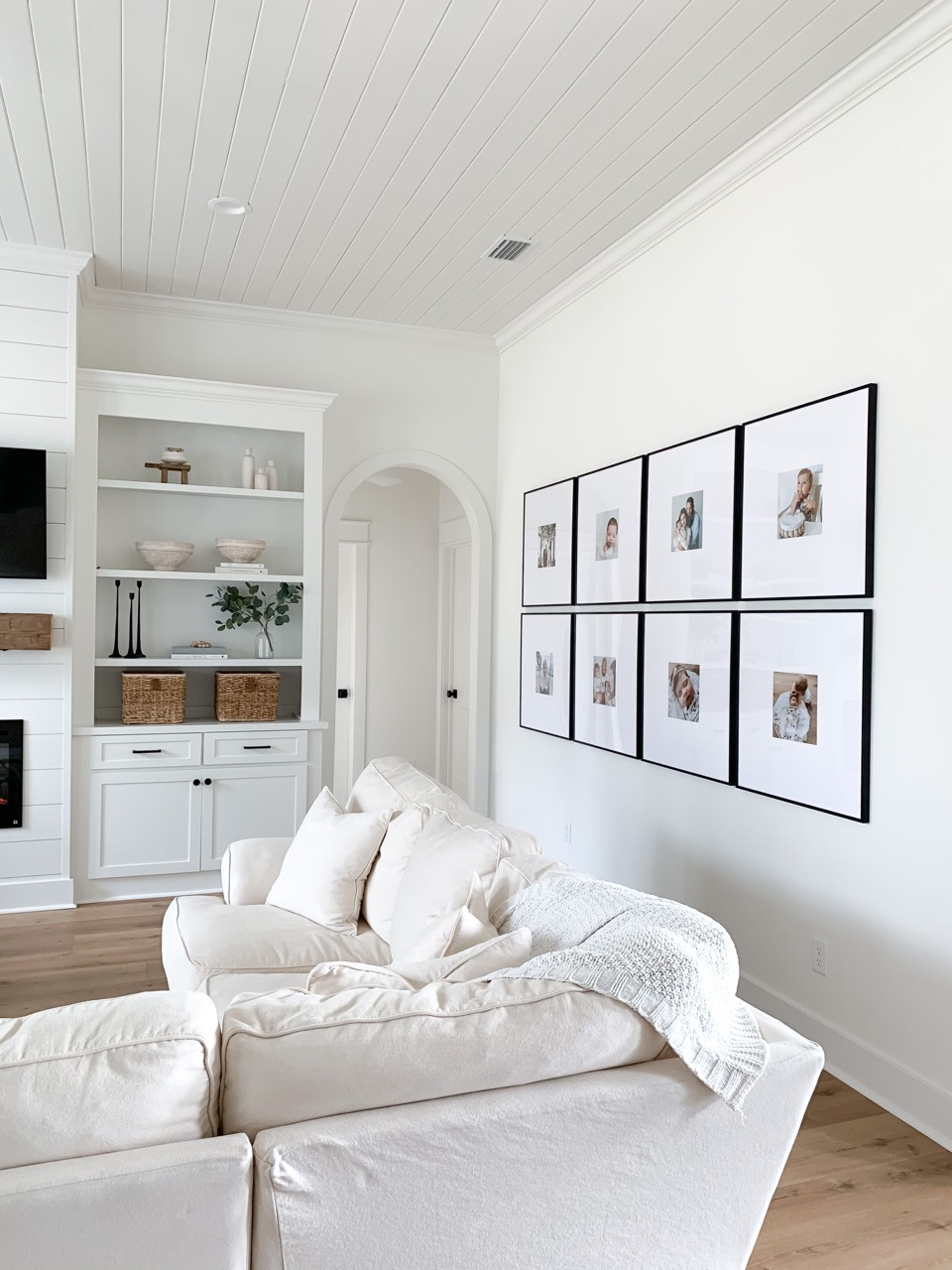 simple white home decor style