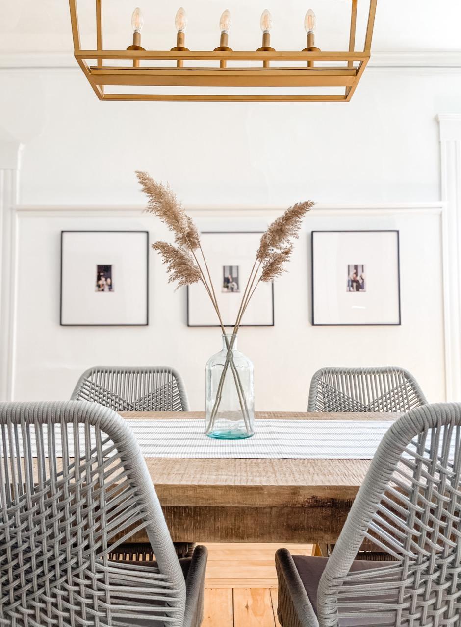 Japandi aesthetic dining room
