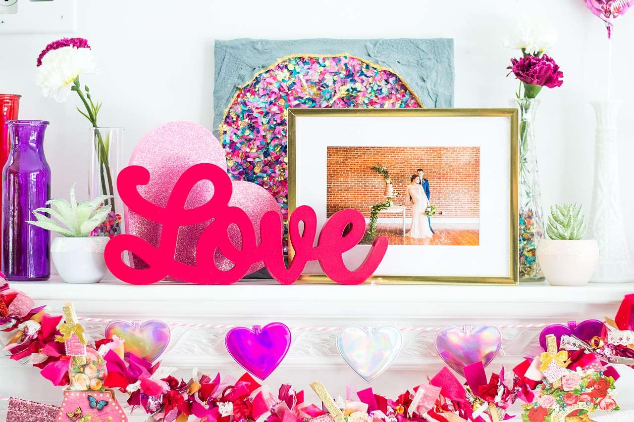 trendy decor on shelf