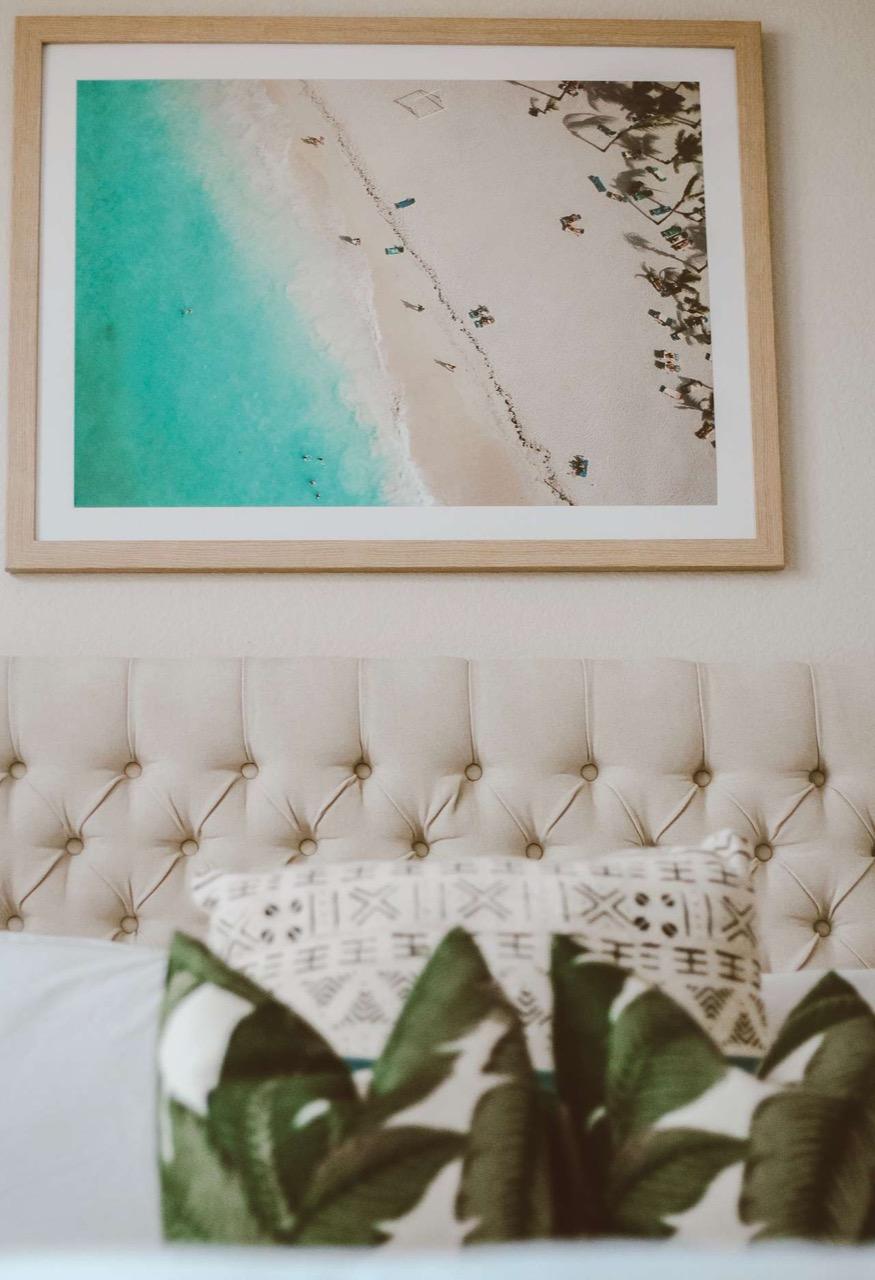 framed beach decor