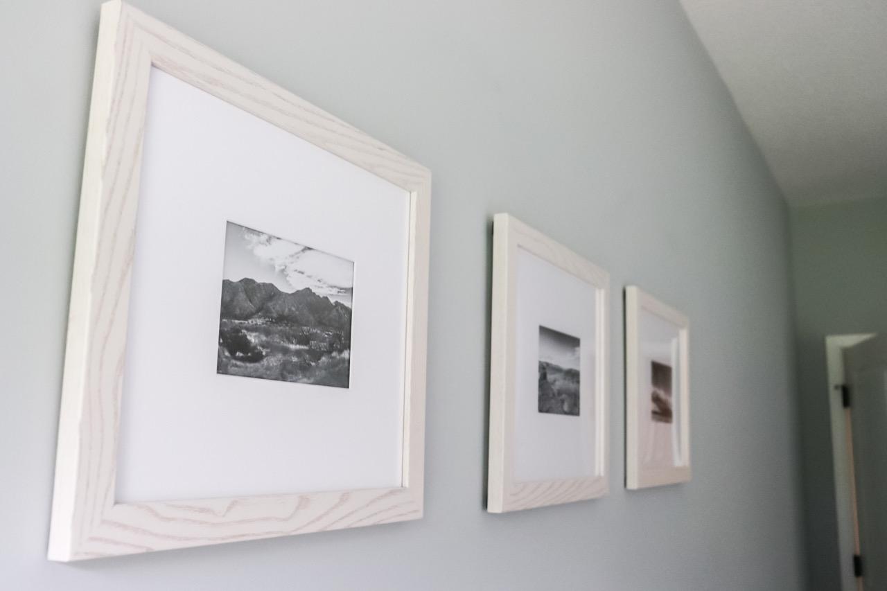 Whitewash picture frames