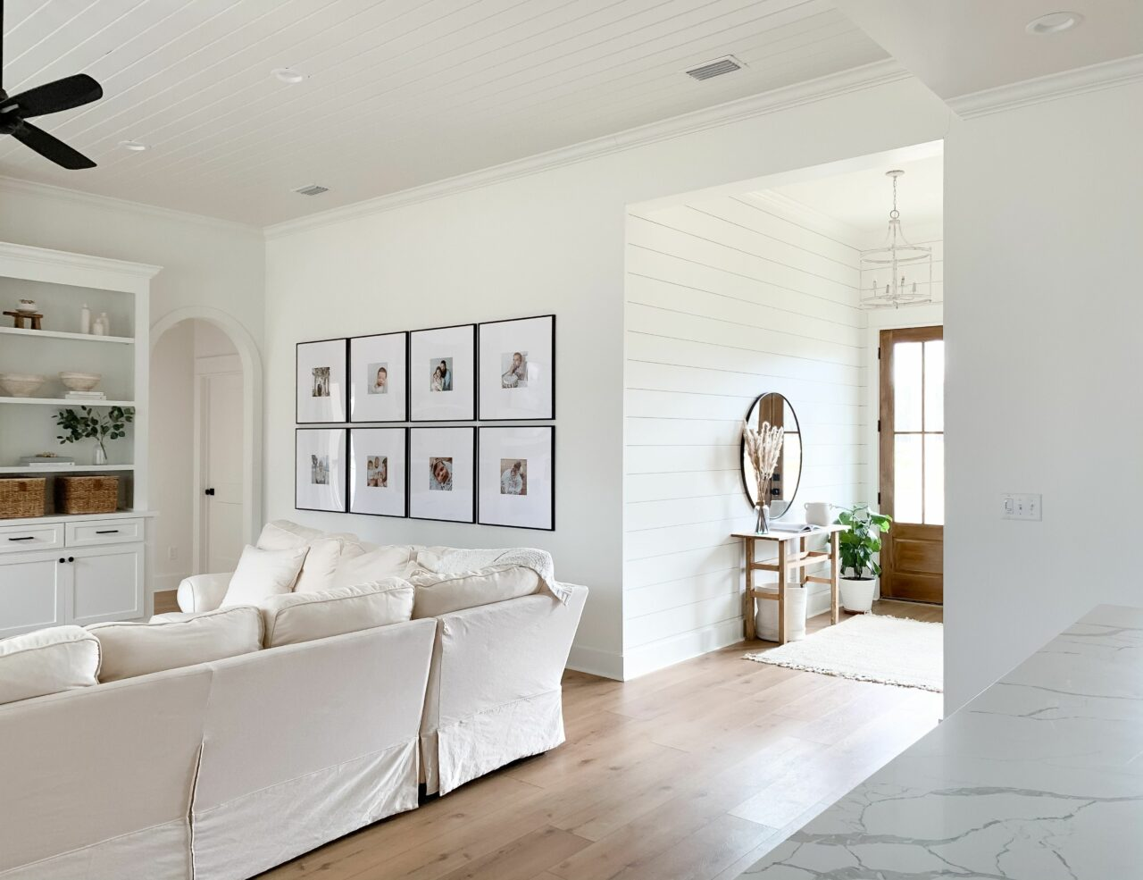 living room decor with open concept