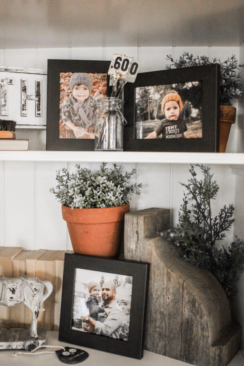 family shelf decor