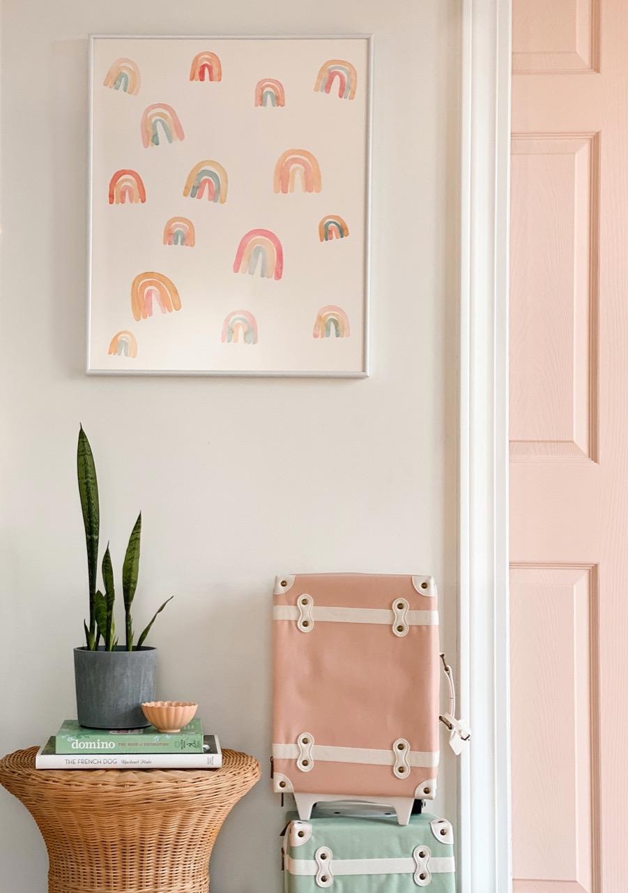 framed rainbow art